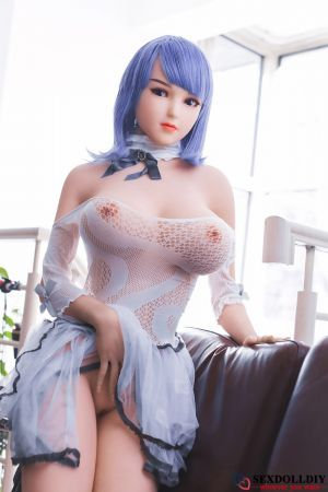Raelyn sex doll:165cm Japanese Purple haired girl in a white dress