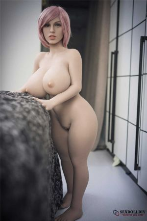 Sarah sex doll: 108cm European pink hair sex starvation housewife